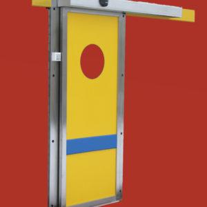 Drzwi przesuwne, automatyczne, tworzywowe