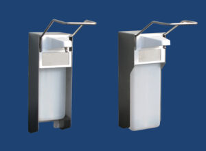 Distributors, dispensers, stainless steel containers