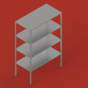Stainless steel shelving units