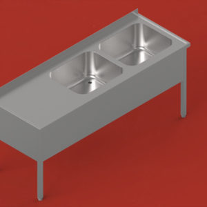 Two-bowl sinks